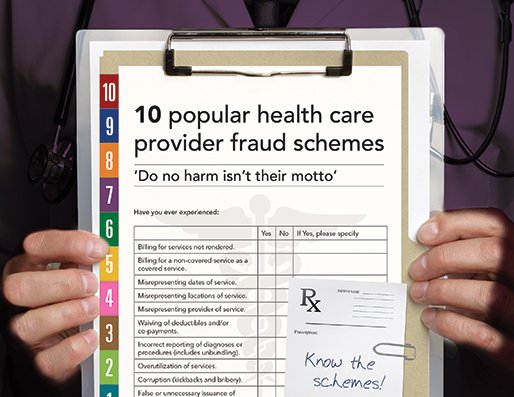 10 popular health care provider fraud schemes